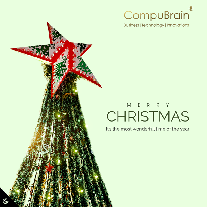 It's the most wonderful time of the year!!!! CompuBrain wishes you a Holly, Molly, Merry Christmas... ⛄🎄🎅  #Christmas #MerryChristmas #Christmas2020 #Festival #Cheers #Joy #Happiness #CompuBrain #Business #Technology #Innovations