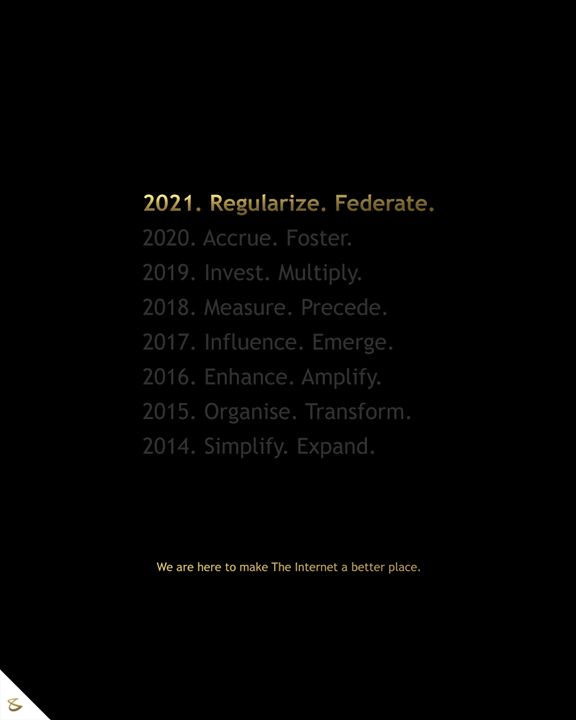 If words were to define what we do,  Regularize and Federate, are our ordinance for 2021  #Vision2021 #newbeginnings #newyear2021 #CompuBrain #Business #Technology #Innovations