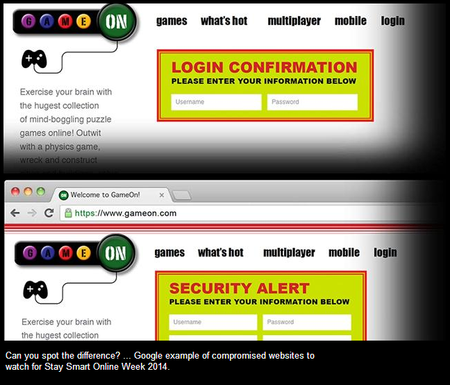 ... How to spot a fake website ...  See the slides