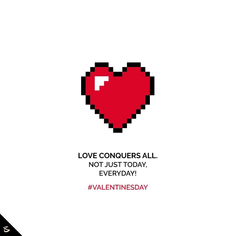 Love conquers all. Not just today, Everyday!  #HappyValentinesDay #Valentine #Love #ValentinesDay #ValentinesDay2021 #CompuBrain #Business #Technology #Innovations